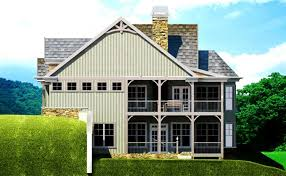 Small Cottage Plan   Walkout Basement   Cottage Floor Plansmall cottage style house plan   porches autumn