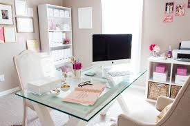 chic home office decor: bonnie bakhtiaris pink and chic home office office tour sayeh throughout girly home office regarding invigorate