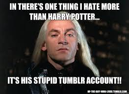 Harry potters Tumblr Account memes | quickmeme via Relatably.com