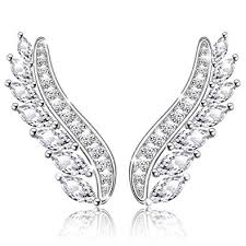 <b>MANBU</b> Halloween <b>925</b> Sterling Silver Charm <b>Fashion</b> Angel Wings