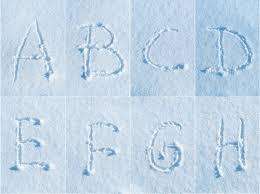 <b>Английский</b> алфавит в снеге - <b>комплект шрифта</b> Стоковое ...
