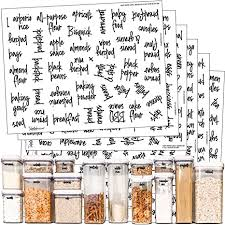 Amazon.com: Talented Kitchen 375 Script Pantry <b>Labels</b> – Medium ...