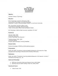 Academic CV Template Academic Research Cv Template