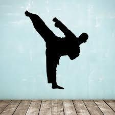 Details about Karate / <b>Taekwondo Wall</b> Sticker - Standing Kick ...