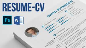 resume cv how to edit and use photoshop and microsoft word resume cv how to edit and use photoshop and microsoft word