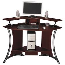 remarkable corner computer desk home interior furniture with dark brown wood curved computer desk and chrome cheap office desks for home