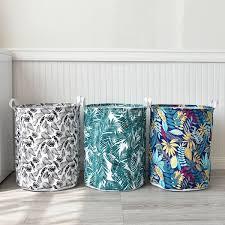 Buy 1 Pc Landry Basket Leaves Pattern <b>Foldable</b> Waterproof ...