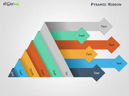 showeet   creative and free powerpoint templatesribbon pyramid diagrams for powerpoint slide