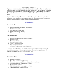 how to make a standard cvhow to make a standard cvorganizing your resume in chronological order is not necessarily the best