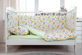 <b>Бортики</b> для детской <b>кроватки Magic</b> City Лесные зарисовки 30x60