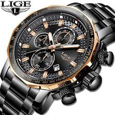 <b>Relogio Masculino LIGE</b> New Sport Chronograph <b>Mens</b> Watches ...