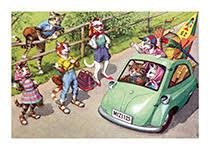 Hitchhikers | Captivating <b>Cats Animals</b> Art <b>Prints</b>