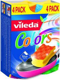 <b>Губка Vileda Pure</b> Colors 4 шт купить с доставкой по Москве, цены ...