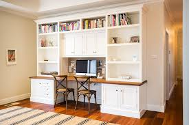 built in kitchen desk ideas home office traditional with double desk white cabinets built office desk ideas