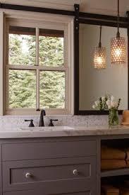 sliding bathroom mirror: barn door mirror to cover window dream home in tahoe when rustic meets modern