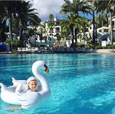 Baby Inflatable Toy Outdoor White Swan Sitting <b>Circle Flamingo</b> ...