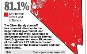Image result for map of federal land ownership in nevada