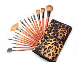 amazon aliexpress ebay explosion 18 leopard print makeup brush set fibre brush set