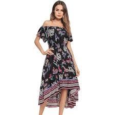 <b>Bohemian</b> Dress <b>Women 2019</b> New Summer Asymmetrical <b>Print</b> ...