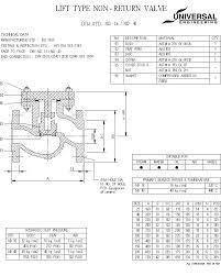 universal valvelife type non return valve   din std  nd     nd