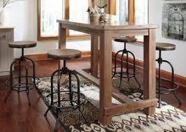 rectangular dining table stoolssignature design pinnadel bar table w  tall swivel stoolssignature design by ashley