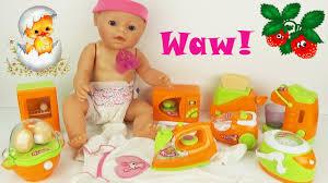 Играем, кормим пупсика Baby Детский <b>игровой набор бытовой</b> ...