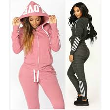 <b>ZOGAA</b> 4 Colors <b>Women</b> Tracksuit 2 Piece Set <b>Outfits Pink</b> Black ...