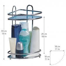 <b>Tatkraft</b> Kaiser Compact Полка двухъярусная угловая для ванной ...