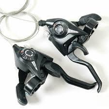 <b>ST</b>-<b>EF51 gear shifter</b>/<b>brake</b> lever 3 x 7,8 speed or set black v-brake ...