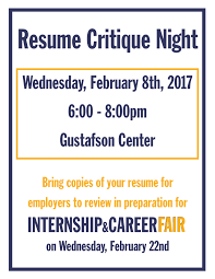 resume critique night feb th careeredge southern new resume critique night feb 8th