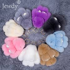 <b>15CM</b> Fluffy <b>Bunny Keychains</b> Rex <b>Rabbit Key Chain Fur</b> Woman ...