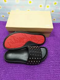 2019 <b>Men Sandals</b> Top Fashion Women Casual Red Bottom Slipper ...