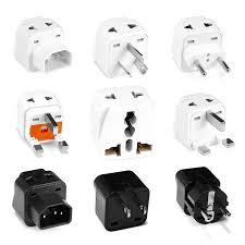 <b>1pcs 2 in 1 Universal</b> UK US EU IL Adapter US to EU Plug Black/White