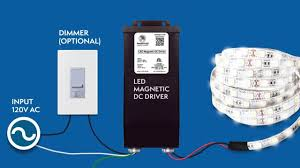 <b>12VDC</b> 200W-<b>300W</b> Magnetic Dimmable LED Driver installation guide