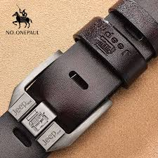 NO.ONEPAUL Men's <b>leather</b> alloy pin buckle jeans belt fashion ...