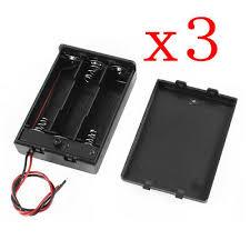 <b>3pcs Plastic Battery Storage</b> Case Box Holder For 3xAA 4.5V w/wire ...
