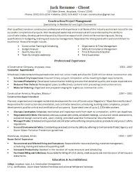 sample resume template construction project management with professional experience construction manager resume sample