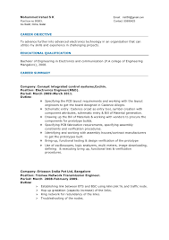 Sample Resume Format For Experienced Mechanical Engineer Template