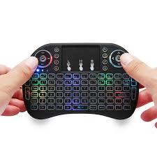 7 Color <b>Backlit I8 Mini Wireless</b> Keyboard 2.4ghz English 3 Colour ...