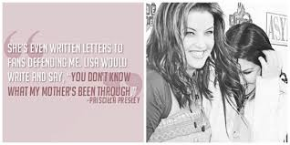 Lisa about Priscilla's book - Priscilla Presley and Lisa Marie ... via Relatably.com