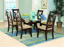 luxury accessories furniture excellent clear glass top dining table ideas rooms with beautiful blue cutlery set beautiful accessories home dining room