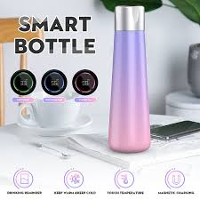 Stainless Steel <b>Intelligent Water Cup Smart</b> Bottle Vacuum Insulated ...