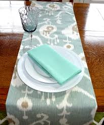 rectangular dining table cover cloth knitted vintage: green amp tan ikat table runner tablecloth seafoam green ikat table runners x