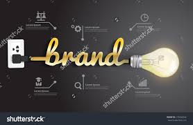 brand image brand concept creative light bulb idea abstract infographic layout diagram step up options