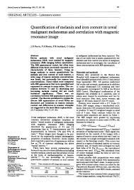 (PDF) Quantification of melanin and iron content in uveal malignant ...