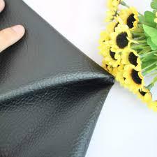 DIY <b>Patchwork</b> Faux Leather Fabric Black <b>Solid Color</b> Litchi Grain ...