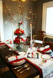 cheap christmas decor: simple and beautiful christmas decorating dining table photos contemporary ideas with each size gold red balls
