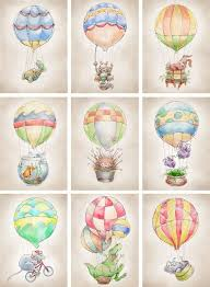 Hot <b>Air</b> Balloon <b>Dinosaur print</b> 8x10 by FlightsByNumber on Etsy ...