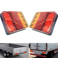 Qiorange <b>2Pcs Universal</b> 8 <b>LED</b> Trailer Rear Light, Board Tail Brake ...