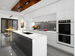 lg house kitchen inspiration for a contemporary galley eat in kitchen remodel in edmonton with a kitchen design house lighting